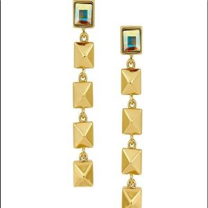 Karl Lagerfield pyramid linear earrings